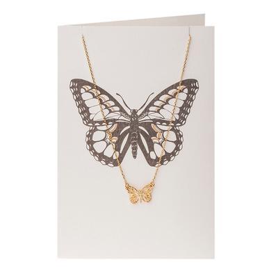 Orelia London Gold Butterfly Necklace