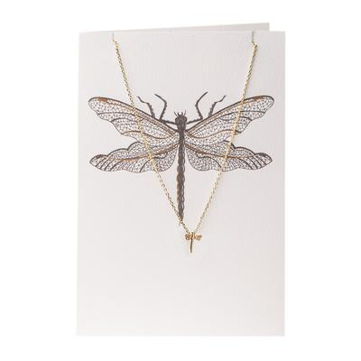 Orelia London Gold Dragonfly Necklace