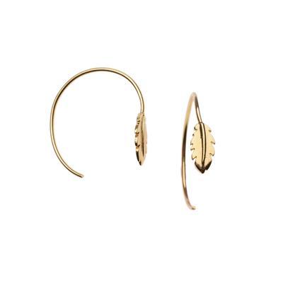 Orelia London Gold Feather Hoops