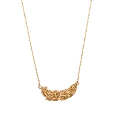 Orelia London Gold Feathers Necklace