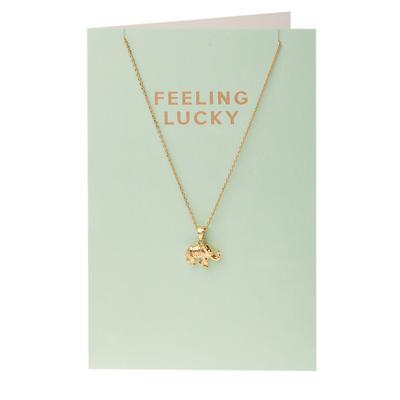 Orelia London Gold Elephant Necklace