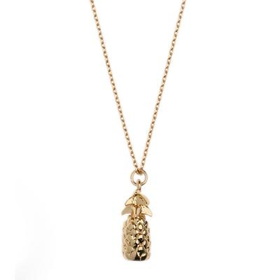Orelia London Gold Pineapple Necklace