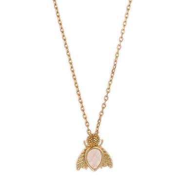 Orelia London Gold Gem Bug Necklace