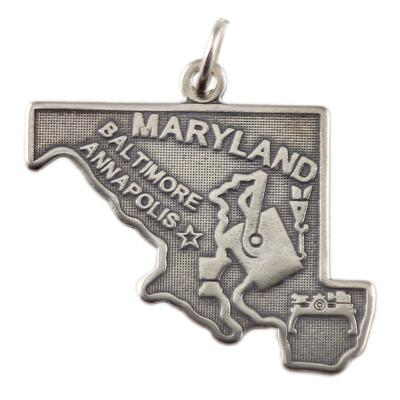 Sterling Silver Maryland Charm