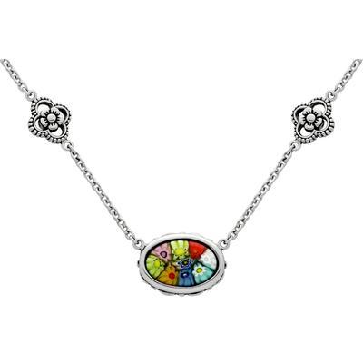 Oval Millefiori Murano Glass Necklace