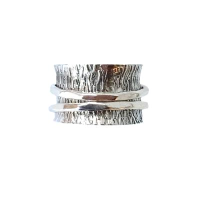 Sterling Silver Textured Spinner Ring