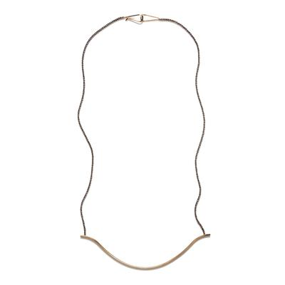 By Boe Sterling Silver & Gold Filled Curve Necklace