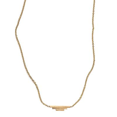 By Boe Gold Filled Triple Bar Necklace