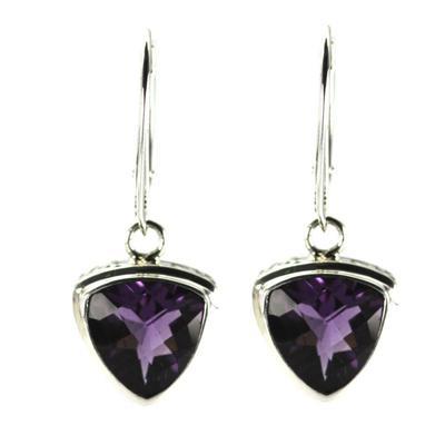 Indiri Sterling Silver & Amethyst Earrings