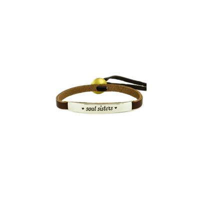 Soul Sisters Alpaca Metal Leather Bracelet