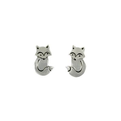 Far Fetched Sterling Silver Tiny Fox Studs