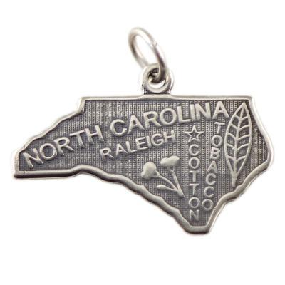 Sterling Silver North Carolina Charm