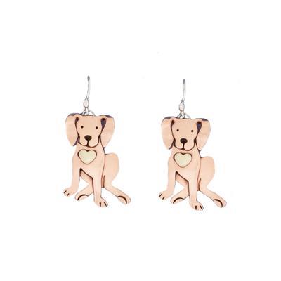 Far Fetched Copper Dog Dangles