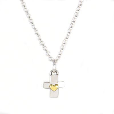 Far Fetched Sterling Silver Cross Necklace