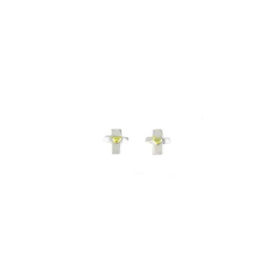 Far Fetched Sterling Silver Cross Studs
