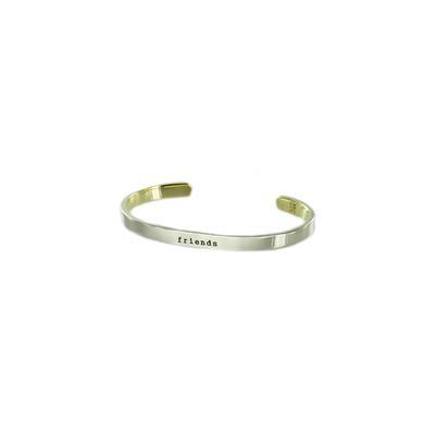 Friends Forever Narrow Alpaca Metal Cuff Bracelet