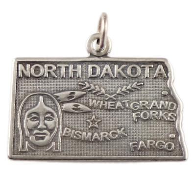 Sterling Silver North Dakota Charm