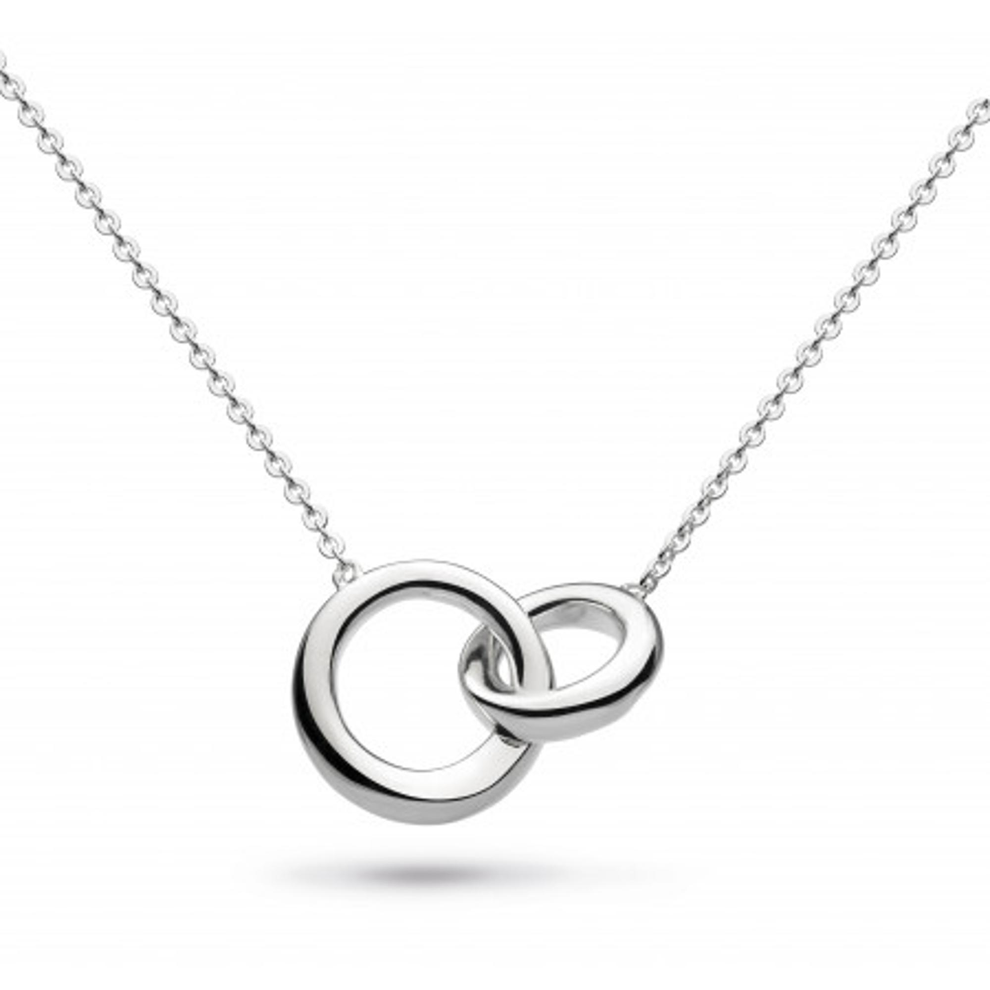 Kit Heath Sterling Silver Interlocking Bevel Curve Necklace