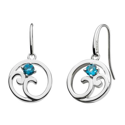 Kit Heath Sterling Silver Norah Shine London Blue Topaz Earrings