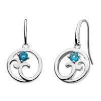 Kit Heath Sterling Silver Norah Shine London Blue Topaz Earrings
