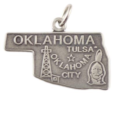 Sterling Silver Oklahoma Charm