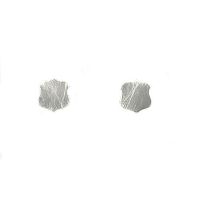 Kelley Reese Sterling Silver Tiny Shield Studs