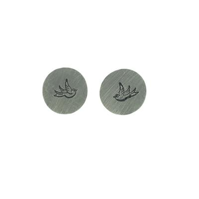 Kelley Reese Sterling Silver Tiny Bird Studs
