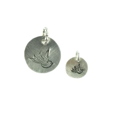 Kelley Reese Sterling Silver Bird Pendants