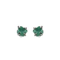 Mimi & Marge Sterling Silver Emerald Claw Studs