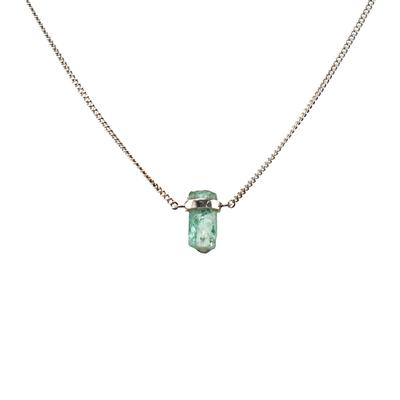 Mimi & Marge Sterling Silver Emerald Wrap Necklace