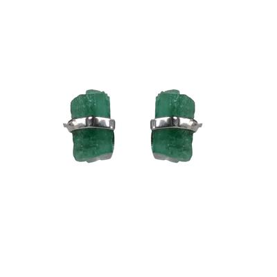 Mimi & Marge Sterling Silver Emerald Wrap Studs
