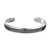 INOX Men's Titanium & Black Carbon Fiber Cuff