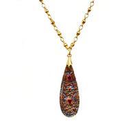 Clara Beau Golden German Cut Glass Necklace