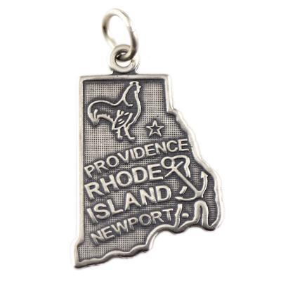 Sterling Silver Rhode Island Charm