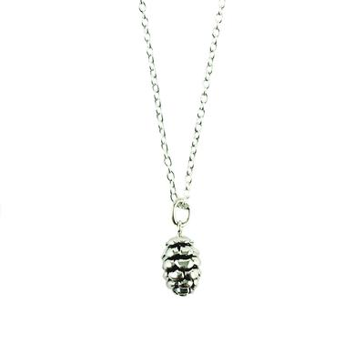 Tashi Sterling Silver Pine Cone Necklace