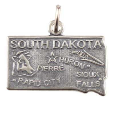 Sterling Silver South Dakota Charm