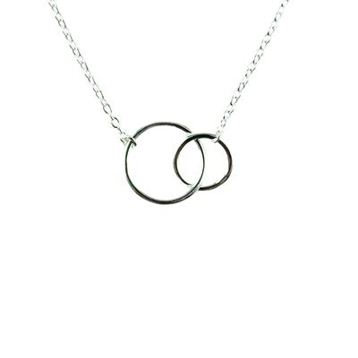 Tashi Sterling Silver Mini Double Circle Necklace