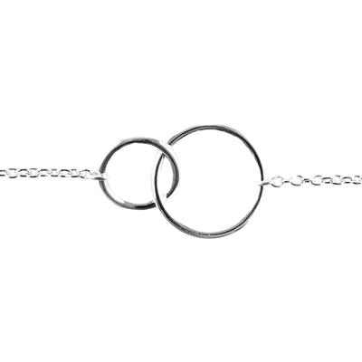 Tashi Sterling Silver Mini Double Circle Bracelet
