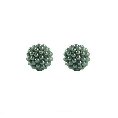 Grey Shell Pearl Ball Studs
