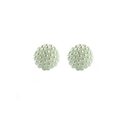 White Shell Pearl Ball Studs