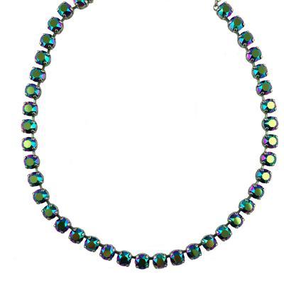 Krikor Scarabaeus Green Swarovski Crystal Necklace
