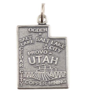 Sterling Silver Utah Charm