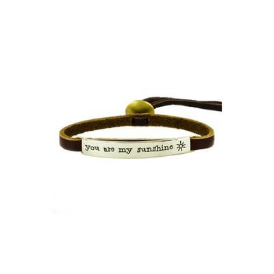 You Are My Sunshine Alpaca Metal Leather Bracelet