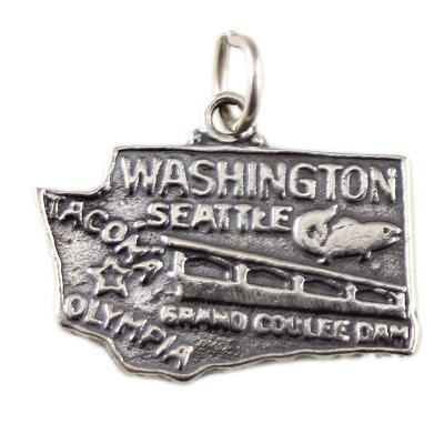 Sterling Silver Washington Charm