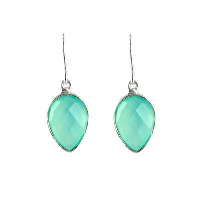 Dolcetti Aqua Chalcedony Lotus Drop Earrings