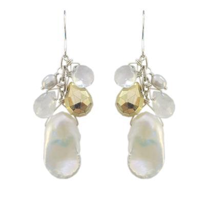 Dolcetti Fancy Pearl & Quartz Cluster Earrings