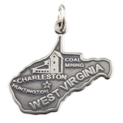 Sterling Silver West Virginia Charm