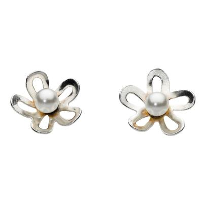 Kit Heath Sterling Silver & Pearl Flower Studs