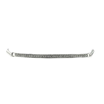 Elsa M Adjustable Sterling Silver & Diamond Bar Bracelet