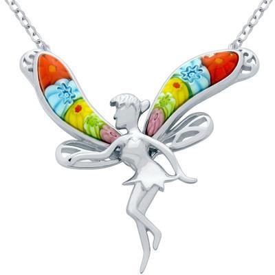 Millefiori Murano Glass Fairy Necklace